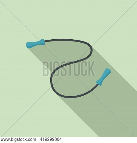 Jump Rope Icon. Flat Illustration Of Jump Rope Vector Icon For Web Design