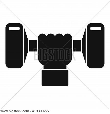 Workout Seniors Dumbbell Icon. Simple Illustration Of Workout Seniors Dumbbell Vector Icon For Web D