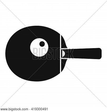 Ping Pong Paddle Icon. Simple Illustration Of Ping Pong Paddle Vector Icon For Web Design Isolated O