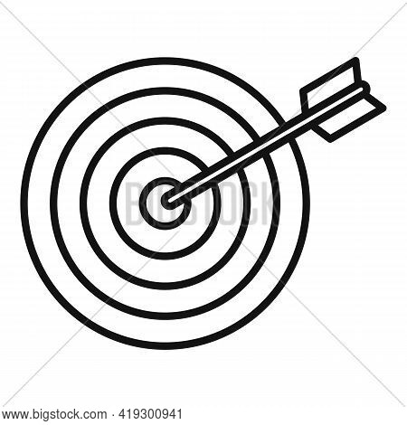 Archer Target Icon. Outline Archer Target Vector Icon For Web Design Isolated On White Background