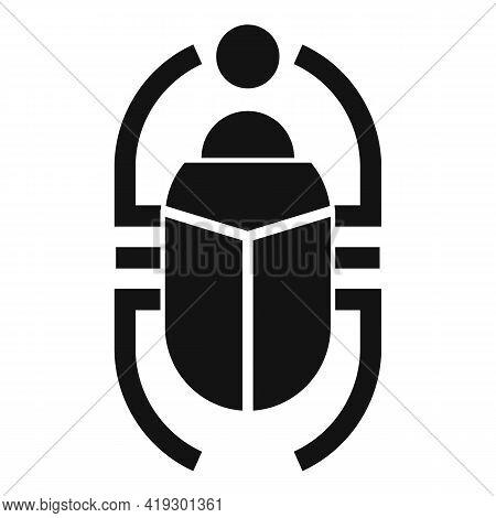 Egypt Scarab Beetle Icon. Simple Illustration Of Egypt Scarab Beetle Vector Icon For Web Design Isol