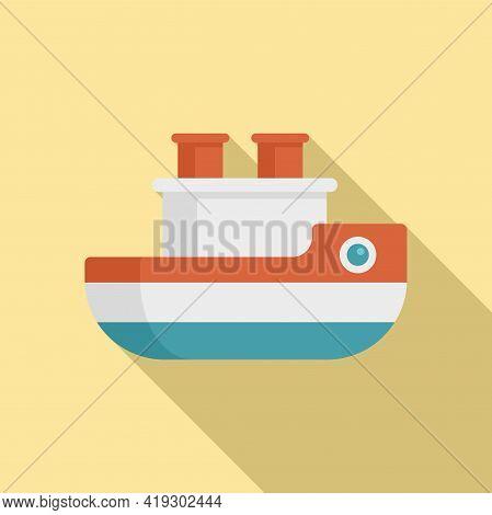 Ship Bath Toy Icon. Flat Illustration Of Ship Bath Toy Vector Icon For Web Design