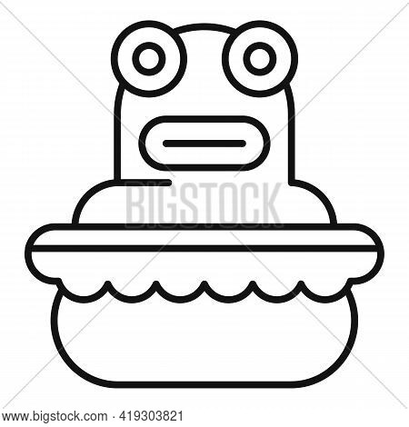 Frog Bath Toy Icon. Outline Frog Bath Toy Vector Icon For Web Design Isolated On White Background