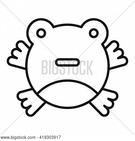 Cute Frog Toy Icon. Outline Cute Frog Toy Vector Icon For Web Design Isolated On White Background