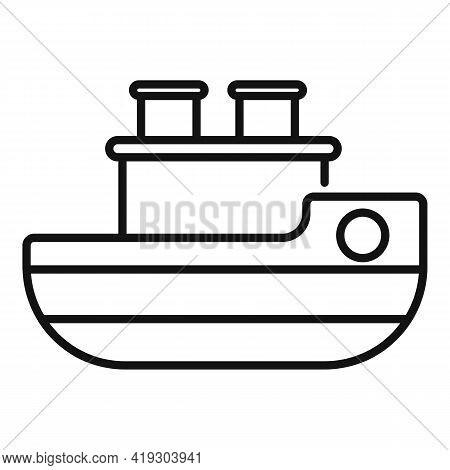 Ship Bath Toy Icon. Outline Ship Bath Toy Vector Icon For Web Design Isolated On White Background