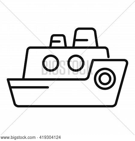 Cruise Toy Icon. Outline Cruise Toy Vector Icon For Web Design Isolated On White Background