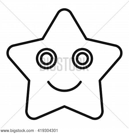 Sea Star Toy Icon. Outline Sea Star Toy Vector Icon For Web Design Isolated On White Background