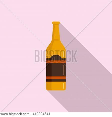Alcohol Teen Problems Icon. Flat Illustration Of Alcohol Teen Problems Vector Icon For Web Design