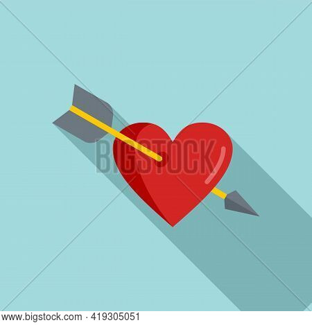 Teen Problems Heart Love Icon. Flat Illustration Of Teen Problems Heart Love Vector Icon For Web Des