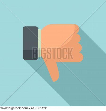 Teen Problem Thumb Down Icon. Flat Illustration Of Teen Problem Thumb Down Vector Icon For Web Desig
