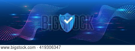Digital Security And Network Protection. Cyber Security For Internet Projects. Antivirus Technology