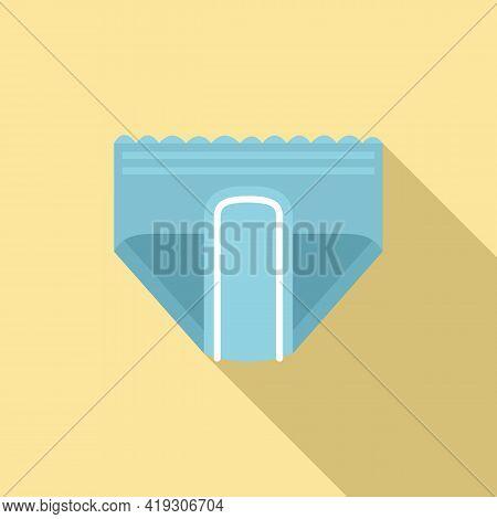 Elasticity Diaper Icon. Flat Illustration Of Elasticity Diaper Vector Icon For Web Design
