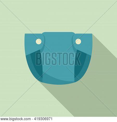 Disponsable Diaper Icon. Flat Illustration Of Disponsable Diaper Vector Icon For Web Design
