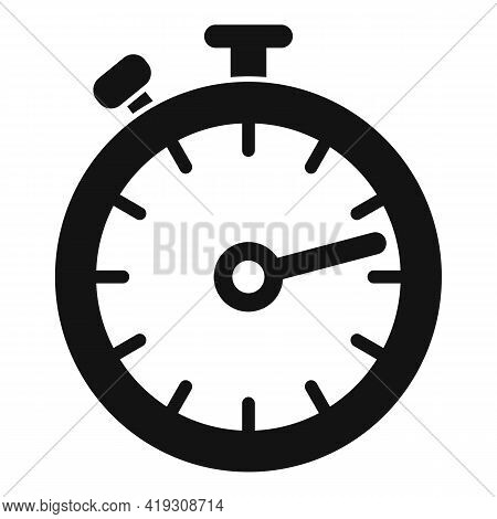 Driving School Stopwatch Icon. Simple Illustration Of Driving School Stopwatch Vector Icon For Web D