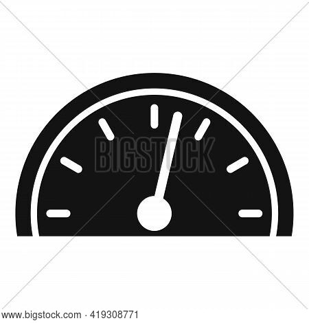 Car Speedometer Icon. Simple Illustration Of Car Speedometer Vector Icon For Web Design Isolated On
