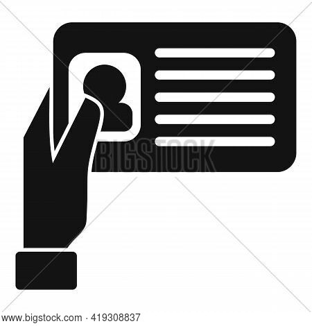 Driver License Icon. Simple Illustration Of Driver License Vector Icon For Web Design Isolated On Wh