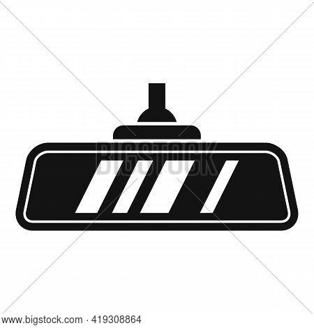 Car Indoor Mirror Icon. Simple Illustration Of Car Indoor Mirror Vector Icon For Web Design Isolated