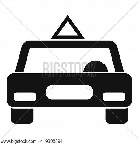 Driving School Car Icon. Simple Illustration Of Driving School Car Vector Icon For Web Design Isolat