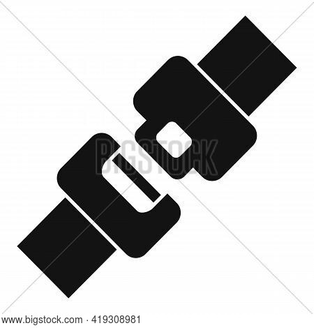 Car Seat Belt Icon. Simple Illustration Of Car Seat Belt Vector Icon For Web Design Isolated On Whit