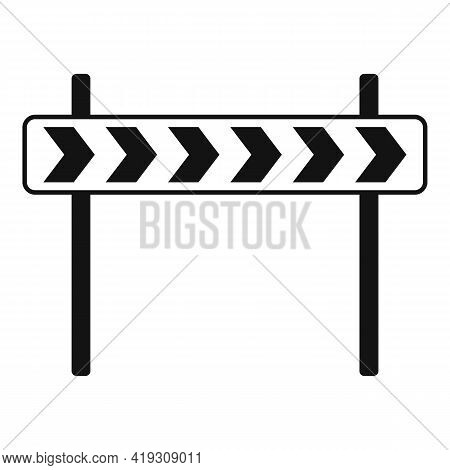 Road Direction Sign Icon. Simple Illustration Of Road Direction Sign Vector Icon For Web Design Isol