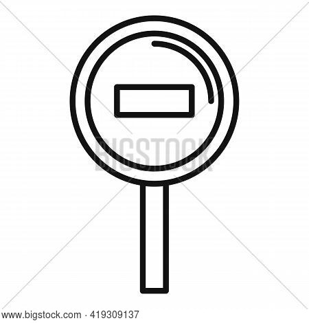 Access Denied Road Sign Icon. Outline Access Denied Road Sign Vector Icon For Web Design Isolated On