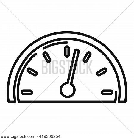 Car Speedometer Icon. Outline Car Speedometer Vector Icon For Web Design Isolated On White Backgroun