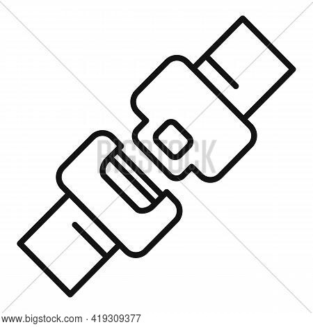 Car Seat Belt Icon. Outline Car Seat Belt Vector Icon For Web Design Isolated On White Background
