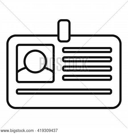 Driver License Card Icon. Outline Driver License Card Vector Icon For Web Design Isolated On White B