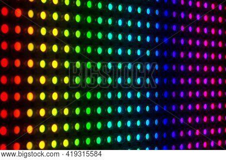 Matrix From Light Emitting Diodes Of A Spotlight.
