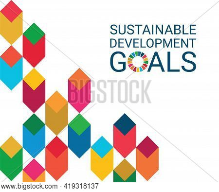 Cover. Sustainable Development Goals Colors. Vector Illustration