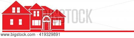 Red House Logo Template Real Estate Graphic