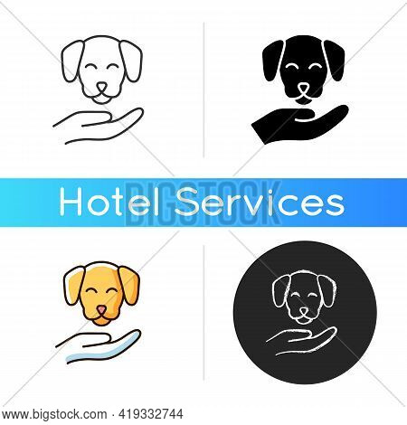 Pet Friendly Icon. Hotels Which Offer Range Of Amenities Designed To Accommodate Pet Owners And Thei
