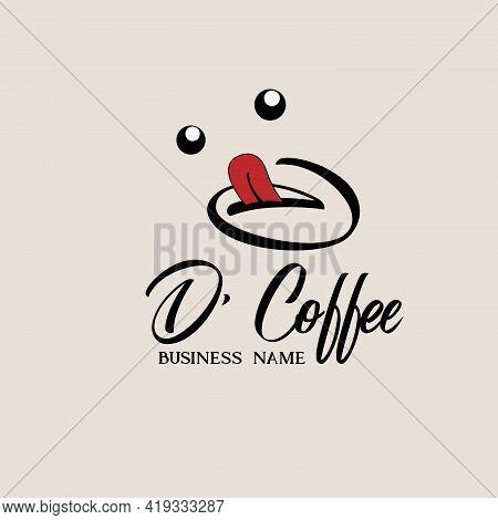 D Coffee Design Logo Vector. D Coffee Logo Restaurant
