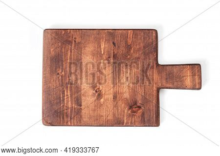 Cutting Board Isolated On White Background. Top View