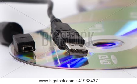 Usb cables and dvds