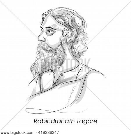 Kobiguru Rabindranath Tagore A Well Known Poet, Writer, Playwright, Composer, Philosopher, Social Re