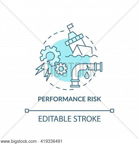 Performance Risk Concept Icon. Purchase Risk Factor Idea Thin Line Illustration. Not Delivering Requ