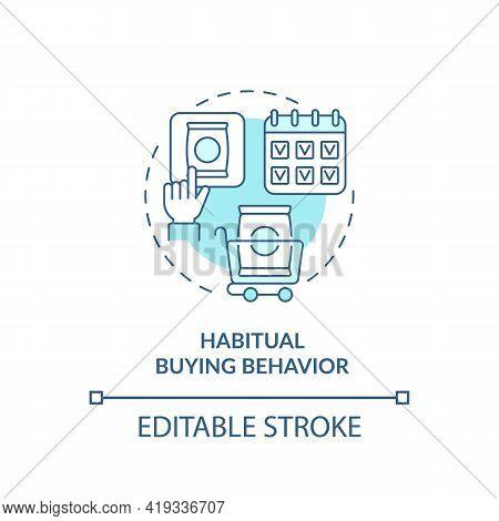 Habitual Buying Behavior Concept Icon. Consumer Behavior Idea Thin Line Illustration. Buying Familia