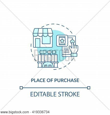 Purchase Place Concept Icon. Customer Behavior Pattern Idea Thin Line Illustration. Shopping Place.