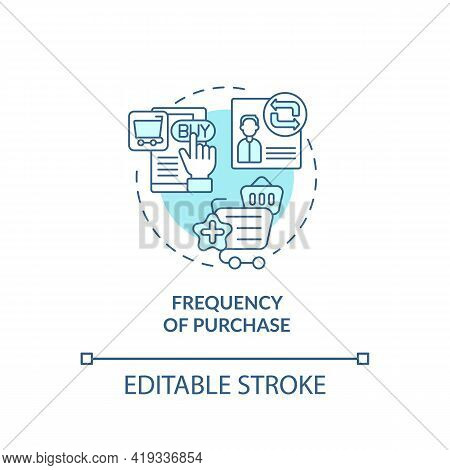 Purchase Frequency Concept Icon. Rfm Model Analysis Idea Thin Line Illustration. Customer Segmentati