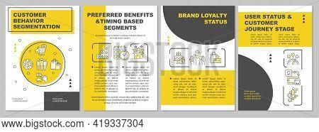 Customer Behavior Segmentation Brochure Template. Preferred Service. Flyer, Booklet, Leaflet Print,