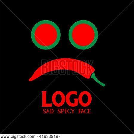 Chili Pepper Design Logo Vector. Illustration Chili Pepper