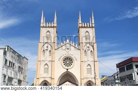 The Landmark Church Of Saint Francis Xavier Built In 1849 Located In George Town Area Of Penang Mala