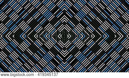 Kaleidoscopic Pattern Of Lines. Animation. Beautiful Background Of Changing Linear Pattern. Pattern