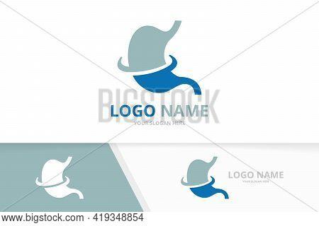 Stomach Logo Design Template. Unique Gastrointestinal Tract Logotype.