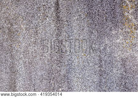 Gray Rough Surface Of Artificial Stone. The Back Of The Artificial Stone Slab, Unpolished With A Med
