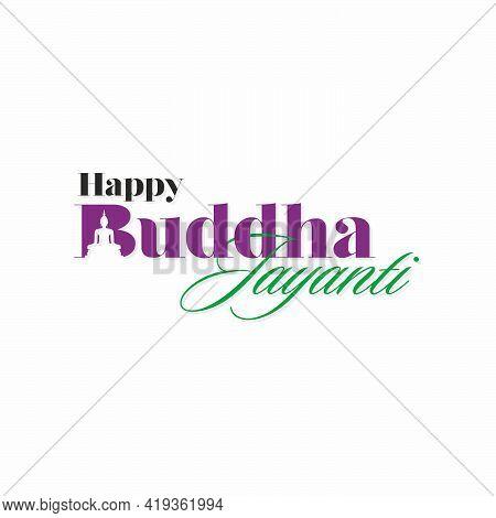 Beautiful Typography Of Buddha Jayanti Banner | Happy Buddha Jayanti Template