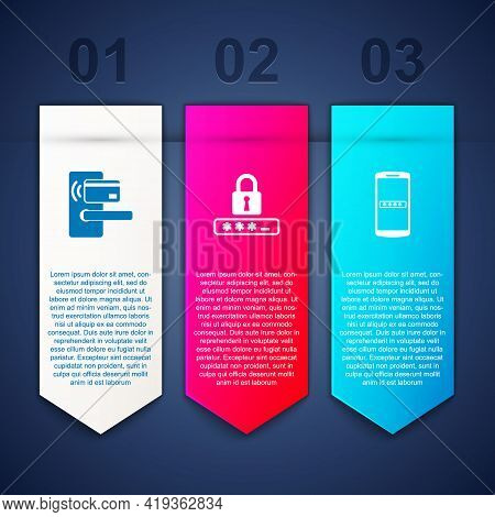 Set Digital Door Lock With Wireless, Password Protection And Mobile And Password. Business Infograph