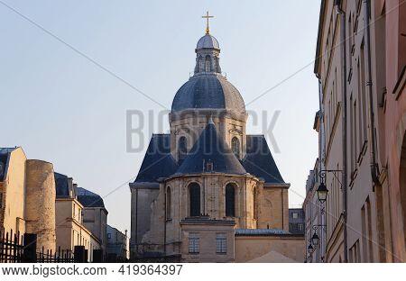 Church Of Saint-paul-saint-louis, Marais 4th Arrondissement , Paris, France. A 17th Century Church S