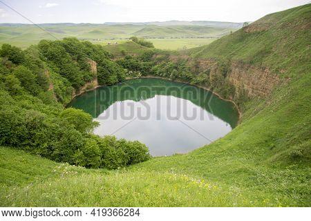Lake Small Shadcurey, Sarnakovo, Kabarda, Northern Caucasus, Russian Federation